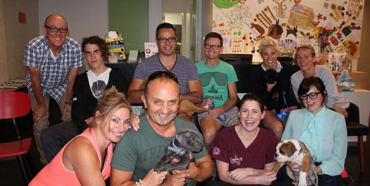 clients and their puppies at puppy school